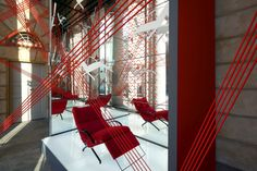 Tecno Connecting Strings Installation by Migliore+Servetto Architects, Milan – Italy » Retail Design Blog