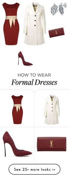 """Untitled #915"" by esmama on Polyvore featuring Miusol, Valentino, Casadei, BERRICLE and Yves Saint Laurent"