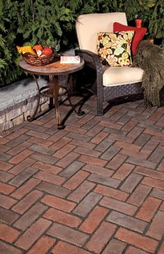 Paver patio by Unilock with Town Hall