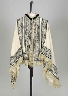 Dolman   Date: 1870–79 Culture: American Medium: Wool, silk, linen Accession Number: 2009.300.6281