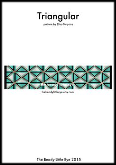 Bead Loom Pattern - Loom Tutorial - Beading Pattern - Loom Beading Pattern - Bracelet Tutorial - Bracelet Pattern - TRIANGULAR