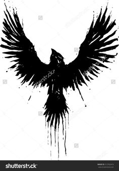 Find Grunge Crow stock images in HD and millions of other royalty-free stock photos, illustrations and vectors in the Shutterstock collection. Black Crow Tattoos, Grey Ink Tattoos, Body Art Tattoos, Sleeve Tattoos, Ear Tattoos, Black Bird Tattoo, Tree Tattoos, Tattoo Ink, Norse Tattoo