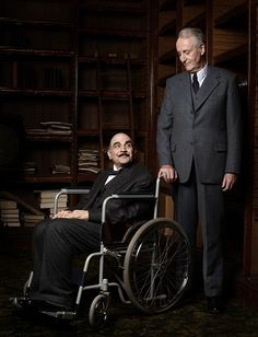 David Suchet as Poirot alongside Hugh Fraser as Hastings in Curtain, the final episode of the series.