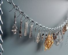 Cleverlyinspired: Dangling Earring organizer....for $2