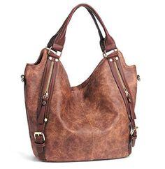JOYSON Women Handbags Hobo Shoulder Bags Tote PU Leather Handbags Fashion  Large Capacity Bags Replica Handbags 4c75c7390fe67