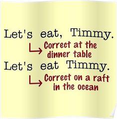 Funny Punctuation Grammar Humor Poster