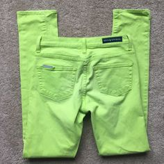 """ROCK & REPUBLIC Women's Like Green Skinny Leg Denim Jeans Size 4 (waist 29"""")    eBay"""