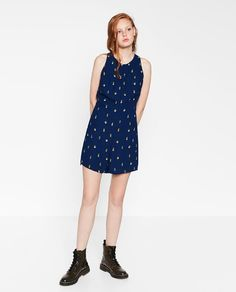 Image 1 of SHORT JUMPSUIT WITH OPEN BACK from Zara