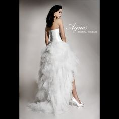 Agnes Bridal Dream FREYA Unique Short Front Long Back Wedding Dress