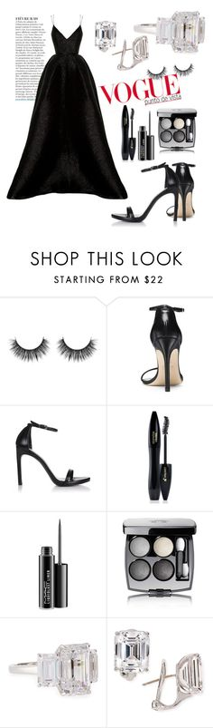 """Untitled #173"" by ysmnfashion ❤ liked on Polyvore featuring Stuart Weitzman, Lancôme, MAC Cosmetics, Chanel, Fantasia by DeSerio, Anja and Alex Perry"