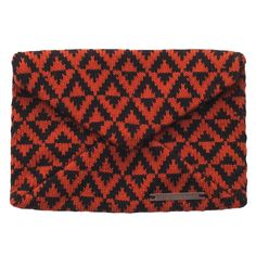 Envelope Clutch // Rust and Black