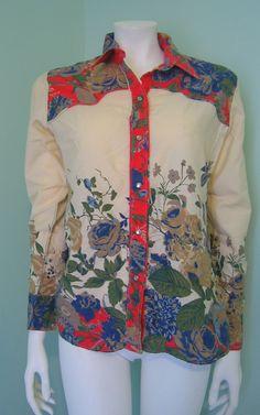 VTG Floral Western Rodeo Wear