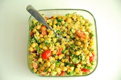 Quinoa&Chickpea Tabbouleh | Vegan Recipes from Cassie Howard