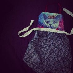 made a cat apron