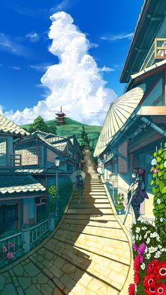 geishas-walking-on-the-street-anime