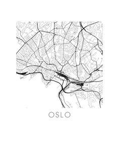 Oslo Map Print by iLikeMaps on Etsy