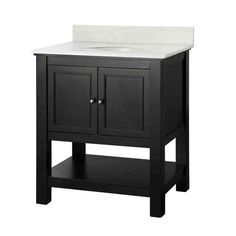 Foremost Gazette 31 in. W x 22 in. D Vanity in Espresso with Marble Vanity Top in Carrara-GAEACA3122 - The Home Depot