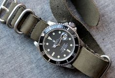 Huckberry | The Watch Shop | W&W Nato Strap (Matte Steel Olive)