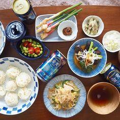 #藍のある食卓 • Instagram写真と動画 Japanese Food, Meat, Chicken, Japanese Dishes, Solar Eclipse, Cubs