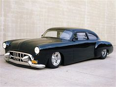 1950 Oldsmobile Fastback, chopped, sectioned, and decked. All the custom touches of the 50's with a moderno flair