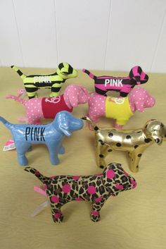 Victoria Secret Pink Dogs Lot of 7, No Hanging Tags