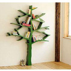 Tree Bookcase In White