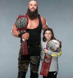 Braun Strowman and little unknown kid WWE Tag Team Championship