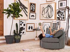 Slide View: 4: African Botanicals Wall Art