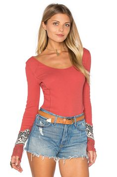 Free People Bandana Cuff Top in Red