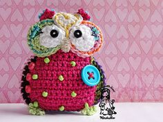 Crochet owl hanger / pendant / ornament crochet by VendulkaM