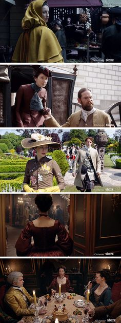 [GIFSET] Claire Fraser, season two - and nice shots of Jamie and Murtagh,too :)