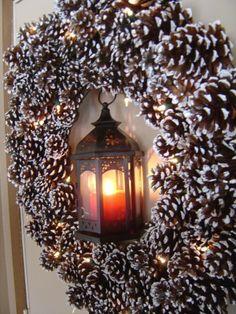 diy christmas wreaths for front door | DIY Christmas front door wreath made out of pine cones | ~Fancy Door~
