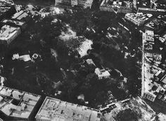 Ezbekieh  Garden, Cairo.  Photo from a balloon.