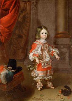 Cornelis Sustermans. Erzherzog Karl Joseph (1649-1664) mit Eichhörnchen, im Alter von vier bis fünf Jahren, um 1653-1654
