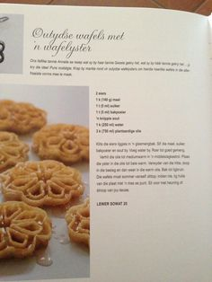 Outydse wafels Waffle Recipes, Baking Recipes, Skinny Cookies, Breakfast Recipes, Dessert Recipes, Norwegian Food, South African Recipes, Beef And Noodles, Recipe Today