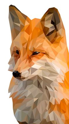 Fox, muzzle, digital art, low poly, wallpaper Source by wallpapersmug Illustration Software, Digital Illustration, Modelos Low Poly, Polygon Art, Fox Art, Geometric Art, Cute Wallpapers, Digital Art, Painting