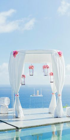 Wedding ● Ceremony Decorations, simple mandap for a destination wedding