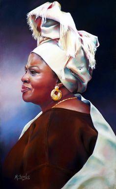 Madam Nabihla - pastel painting by Roberta Combs