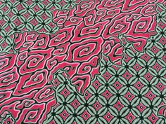 Kenyan Fabric--African Wax Print Fabric--Java Print Fabric--Pink and Gray Swirl Print Fabric--African Fabric by the HALF YARD - pinned by pin4etsy.com