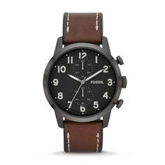Townsman Chronograaf Horloge Leer - Bruin FS4874