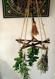 Decorative Rocks Ideas : Handmade positively Pagan Wiccan Pentacle & by PositivelyPagan Wiccan Decor, Wiccan Crafts, Yule Crafts, Wiccan Altar, Suncatcher, Decoration Plante, Garden Tool Storage, Pagan Witch, Pagan Yule