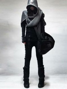Human - top styling idea, would add some leather bits and more fucked up textures.