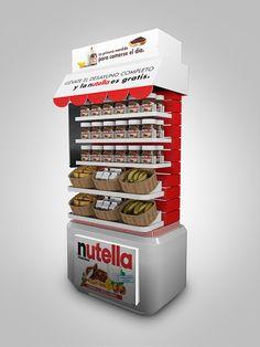 Nutella on Behance: Pos Display, Visual Display, Store Displays, Display Design, Product Display, Booth Design, Banner Design, Pos Design, Stand Design