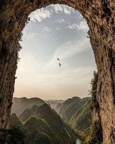 Via The Culture Trip Photographer Jimmy Chin tends to take pictures of people involved in rather epic situations.  This was taken in Guizhou, China.