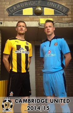Home and Away, Puma. Ian Miller and Josh Coulson modelling the new strips Football Shirts, Sports Shirts, Cambridge United Fc, Home And Away, University, The Unit, Model, Inspiration, T Shirts