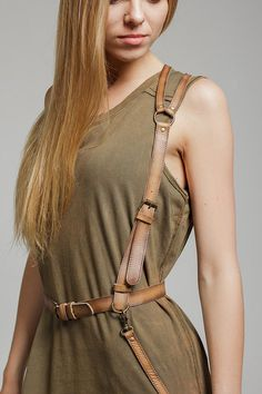 SALE PRICE Leather harness women body harness by BohoMantra