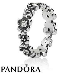 Pandora Zirconia Flower Band Ring 80548 #jewellery