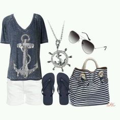 Anchors....how cute for the spring/summer. #anchorobsesion
