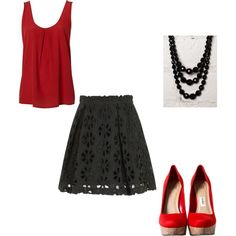 Red and Black - Sexy & Bold Date Outfit