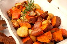 Roasted Yams, Parsni